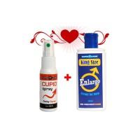 Spray pentru întârzierea ejaculării Cupid Spray + Gel pentru mărirea penisului Enlargo