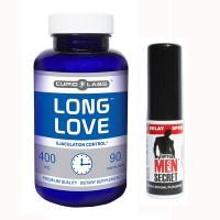 Long Love + Men Secret set pentru întârziere a ejaculării