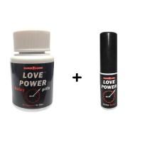 Love Power - capsule și spray pentru întârziere a ejaculării